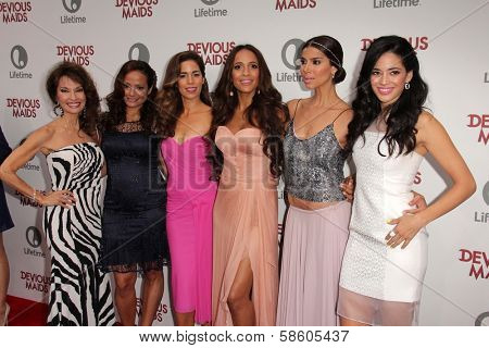 Susan Lucci, Judy Reyes, Ana Ortiz, Dania Ramirez, Roselyn Sanchez and Edy Ganem at the