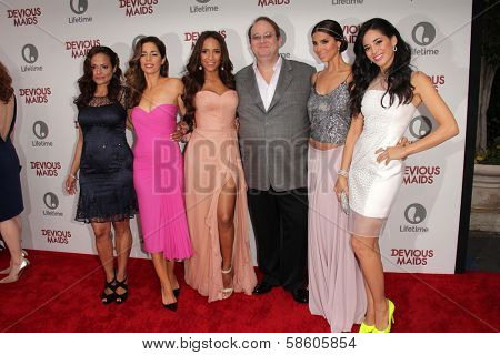 Judy Reyes, Ana Ortiz, Dania Ramirez, Marc Cherry, Roselyn Sanchez and Edy Ganem at the