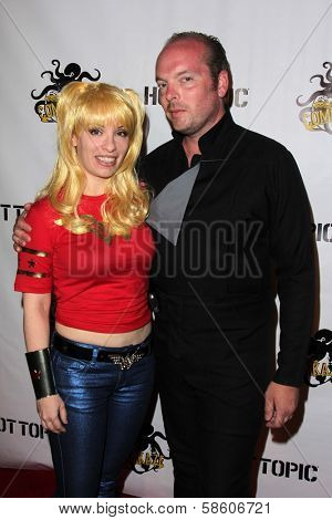 Vera VanGuard and Jamin Fite at the Comikaze red carpet Launch Party, Whimsic Alley, Los Angeles, CA 06-21-13