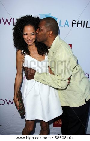 Sherri Saum and Eriq La Salle at the Hollywood Bowl Hall of Fame Opening Night, Hollywood Bowl, Hollywood, CA 06-22-13