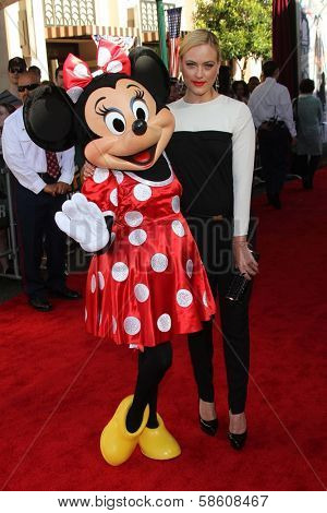 Peta Murgatroyd with Minnie Mouse at