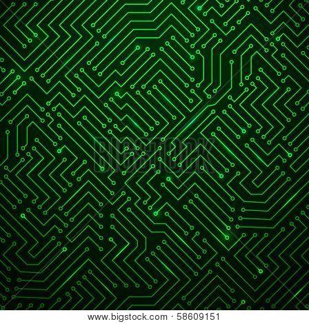 Futuristic Shining Green Technology Backgorund