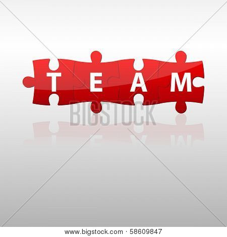 Red Color Team Puzzle