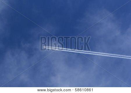 Airplane In Bleu Sky