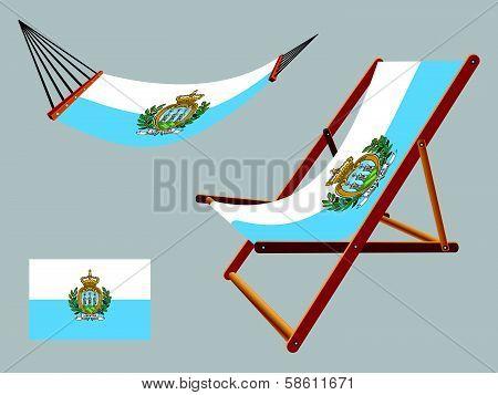 San Marino Hammock And Deck Chair Set