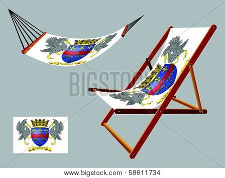 Saint Barthelemy Hammock And Deck Chair Set