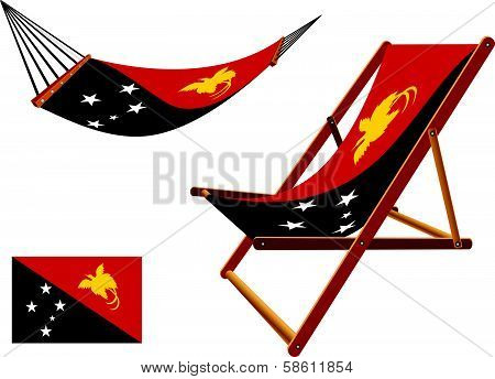 Papua New Guinea Hammock And Deck Chair Set