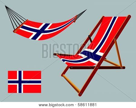 Norway Hammock And Deck Chair Set