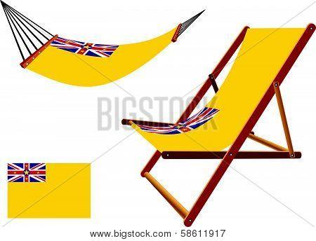 Niue Hammock And Deck Chair Set