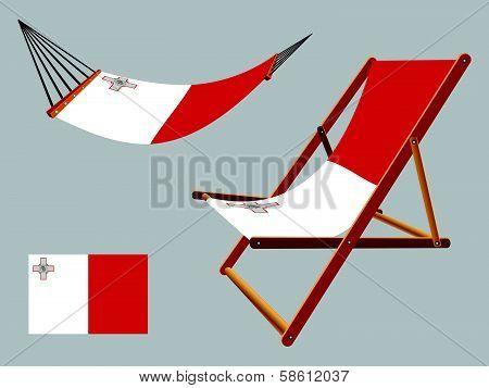 Malta Hammock And Deck Chair Set