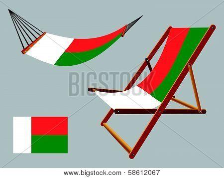 Madagascar Hammock And Deck Chair Set