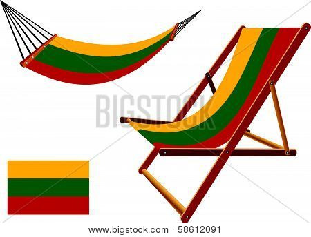 Lithuania Hammock And Deck Chair Set