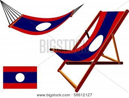 Laos Hammock And Deck Chair Set