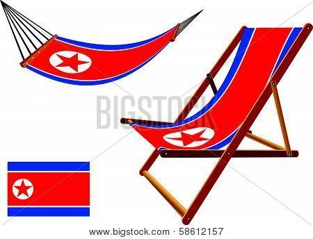 North Korea Hammock And Deck Chair Set