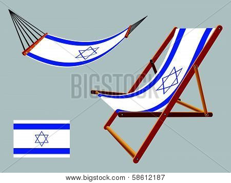 Israel Hammock And Deck Chair Set