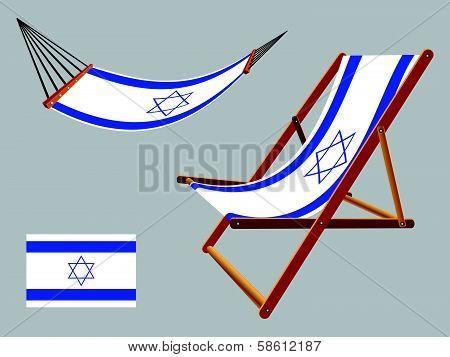 Israel Hammock And Deck Chair Set