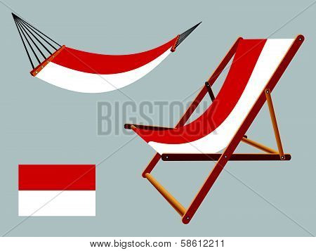 Indonesia Hammock And Deck Chair Set