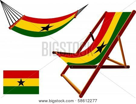 Ghana Hammock And Deck Chair Set