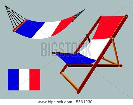 France Hammock And Deck Chair Set