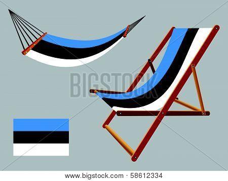 Estonia Hammock And Deck Chair Set
