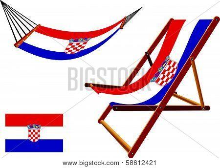 Croatia Hammock And Deck Chair Set