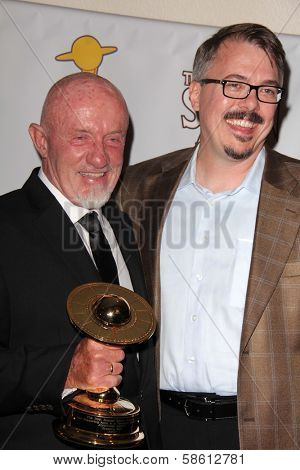 Jonathan Banks and Vince Gilligan at the 39th Annual Saturn Awards Press Room, The Castaway, Burbank, CA 06-26-13