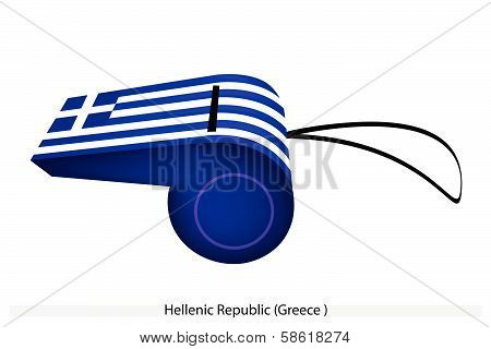 A Whistle Of The Hellenic Republic Flag