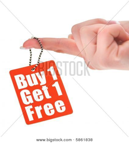 Hand Holding Sale Tag