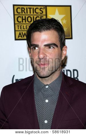 Zachary Quinto at the 3rd Annual Critics' Choice Television Awards, Beverly Hilton Hotel, Beverly Hills, CA 06-10-13