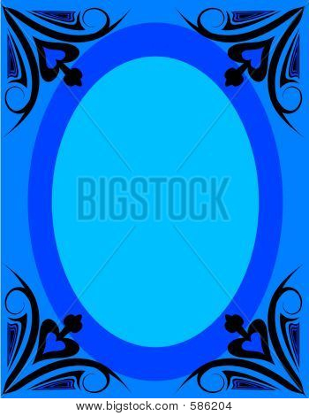 Frame With Blue