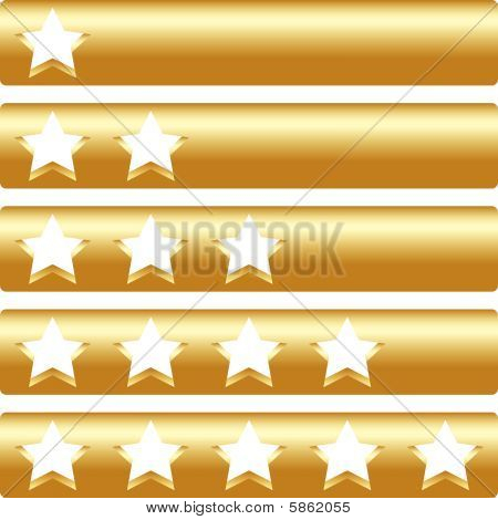 Golden Bar With Five Rating Stars