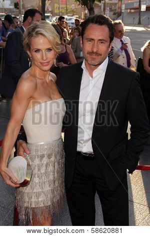 Demian Bichir and wife Lisset Gutierrez at