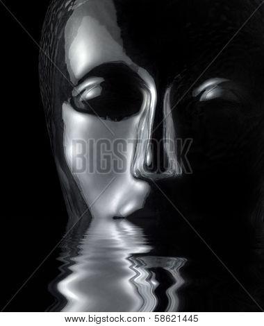 Sinking Glass Head