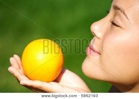 Woman and fruit
