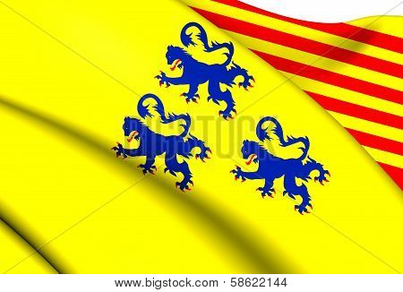 Alternate Flag Of Limousin, France.