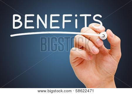 Benefits White Marker
