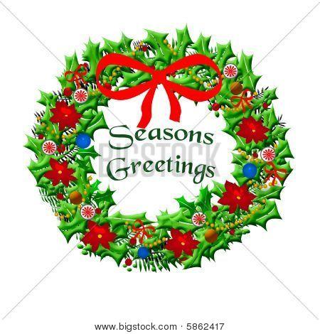 Seasons greetings wreath