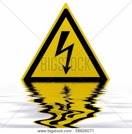 Sunken High Voltage Sign