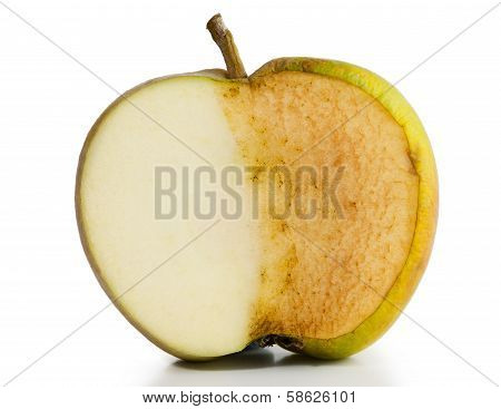 Apple Fresh And Decayed