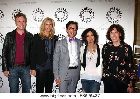 Don Roos, Lisa Kudrow, Dan Bucatinsky, Sara Gilbert and Lily Tomlin at The Paley Center Presents: An Evening With