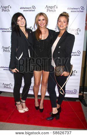 Bree Cuoco, Ashley Jones and Kaley Cuoco at the
