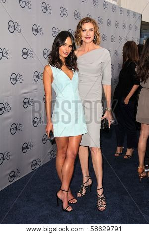 Jordana Brewster and Brenda Strong at the TNT 25th Anniversary Party, Beverly Hilton Hotel, Beverly Hills, CA 07-24-13