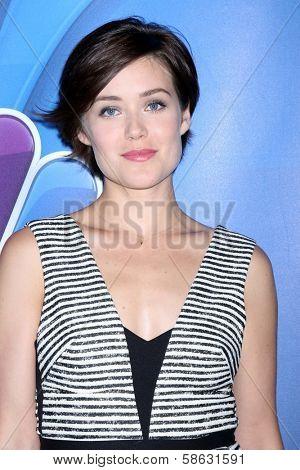 Megan Boone at the NBC Press Tour, Beverly Hilton, Beverly Hills, CA 07-27-13