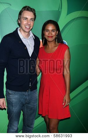 Dax Shepard and Joy Bryant at the NBC Press Tour, Beverly Hilton, Beverly Hills, CA 07-27-13