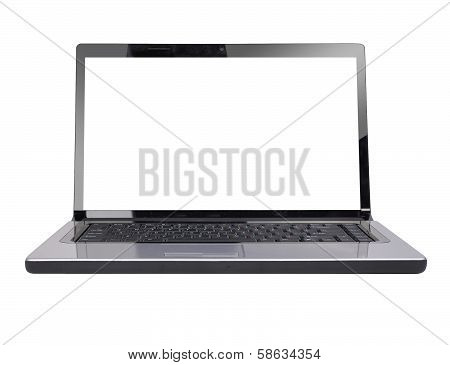 Blank Computer Laptop White Screen
