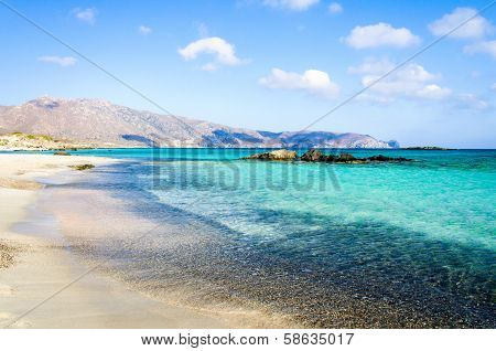 Elafonisi beach on island of Crete, Greece