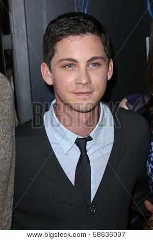 Logan Lerman at the