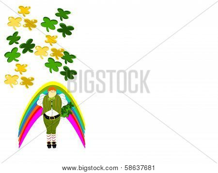 leprechaun large clover rainbow