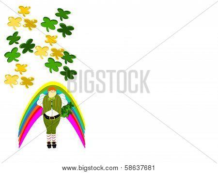 leprechaun large clover rainbow