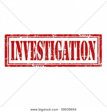 Investigation-stamp